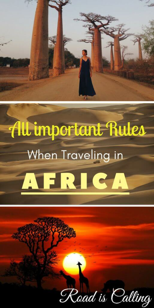 Have you been thinking to visit Africa? This continent will surprise you with the diversity, amount of sightseeing and its own culture. But before visiting Africa, learn about the steps and rules you have to follow in order to have a pleasant and memorable African adventure. Travel in South Africa is very different than travel in Zanzibar, Morocco or Kenya. #visitafrica #africatravel
