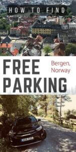 Tips on how to avoid tolls and find free parking Bergen, Norway. This information will be valuable in case you are a budget traveler who would like to save some money when traveling to Bergen by car. #traveltips #travelbergen #budgettravel #savingmoney