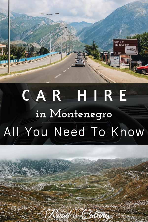 Montenegro driving and car hire