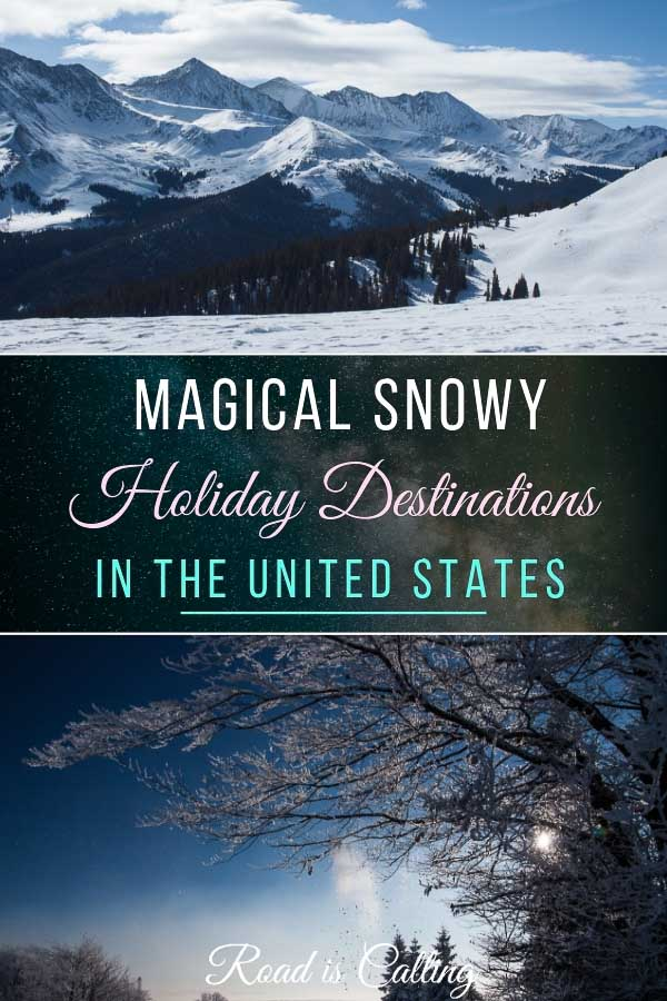 United States of America has incredibly high amount of places where you can get the best of winter. Take a look at this list of some of the best snowy holiday destinations in America. Tip: you can visit them not only in winter but during any other season and still see snow! #winterdestinations #usatravel #snowyholiday
