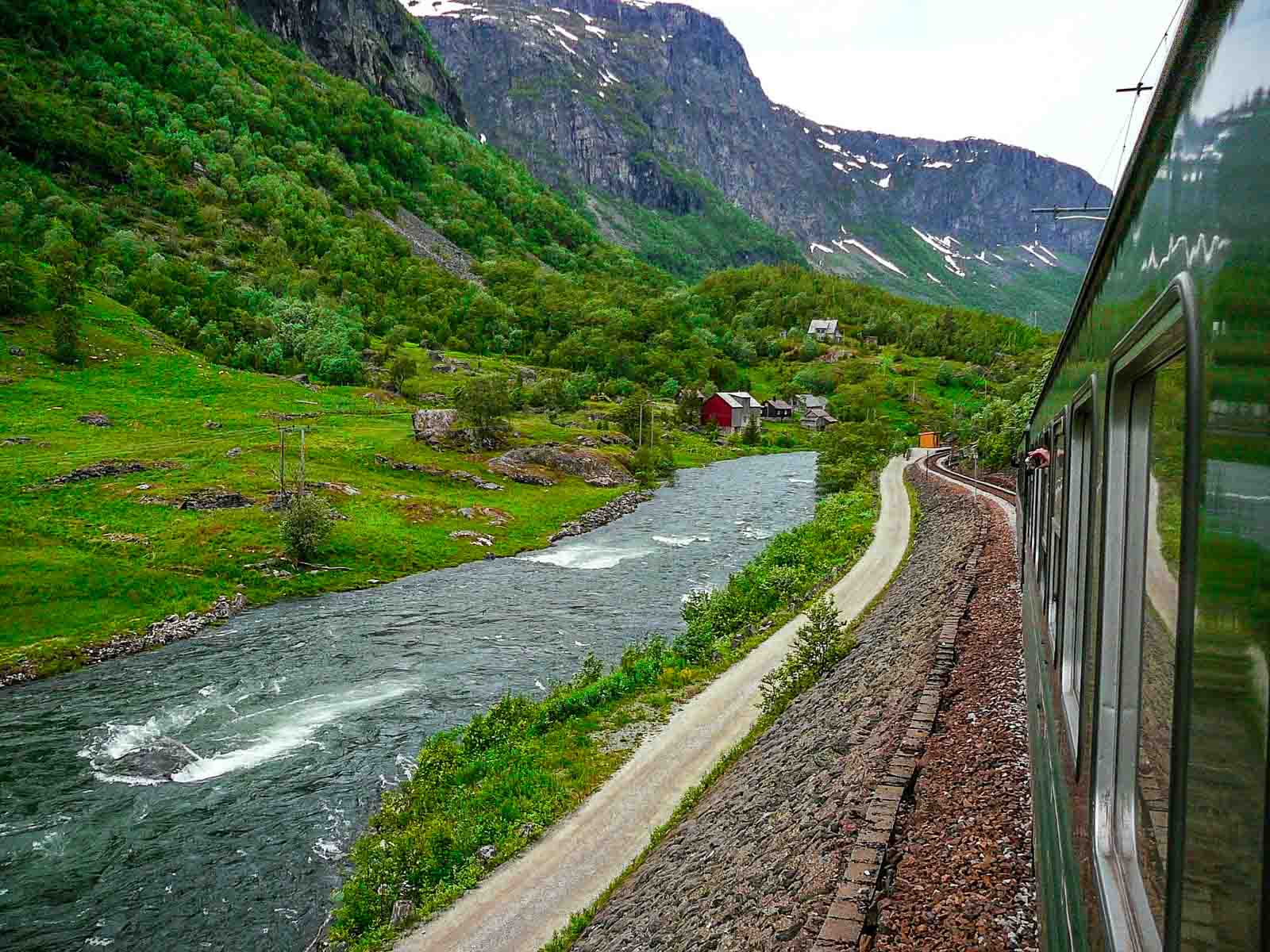 scenic train in Norway