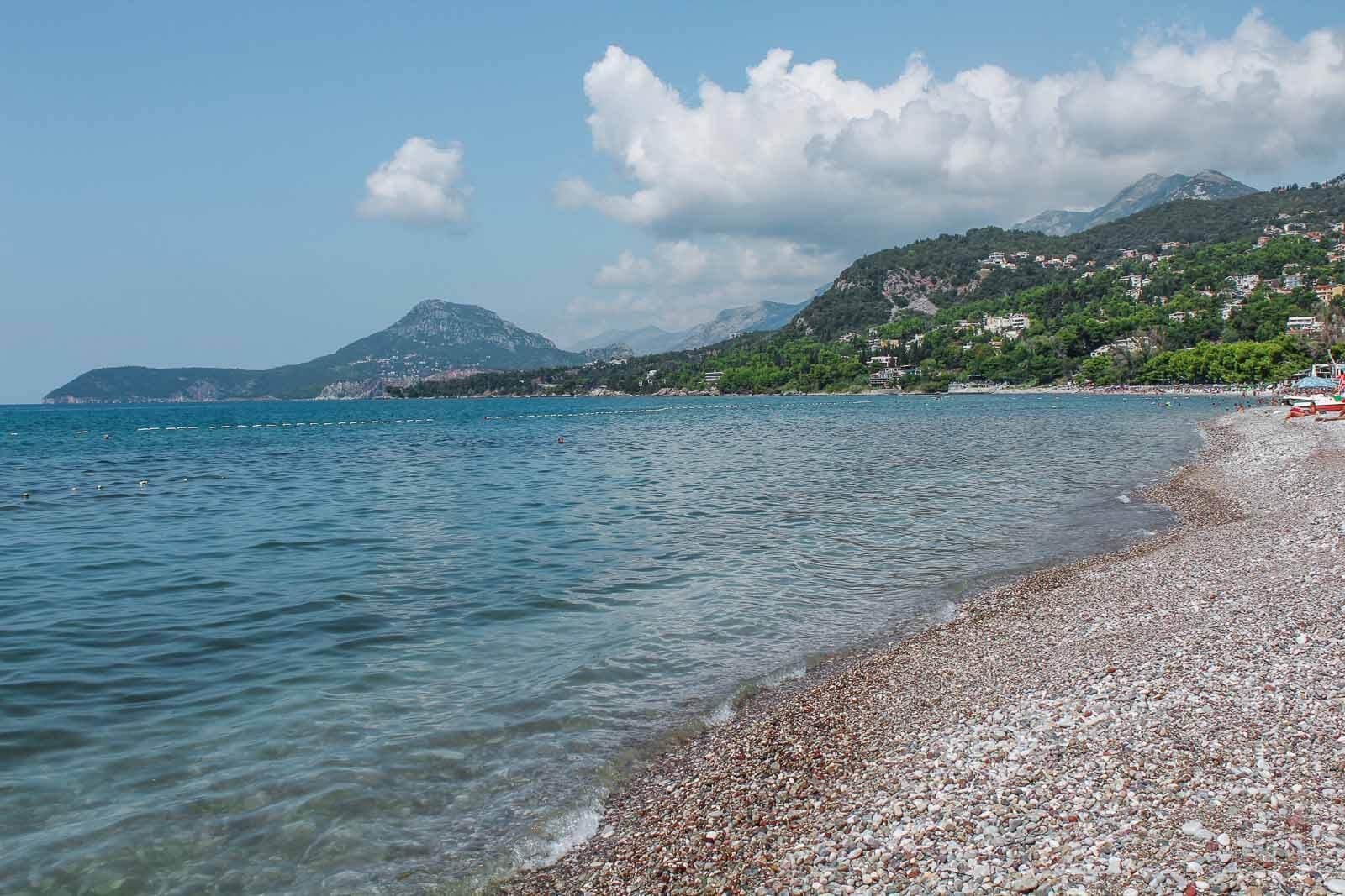 quiet beach near Petrovac