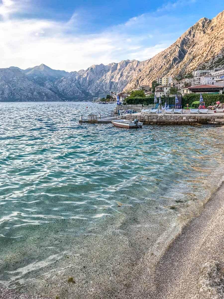 beach in Kotor