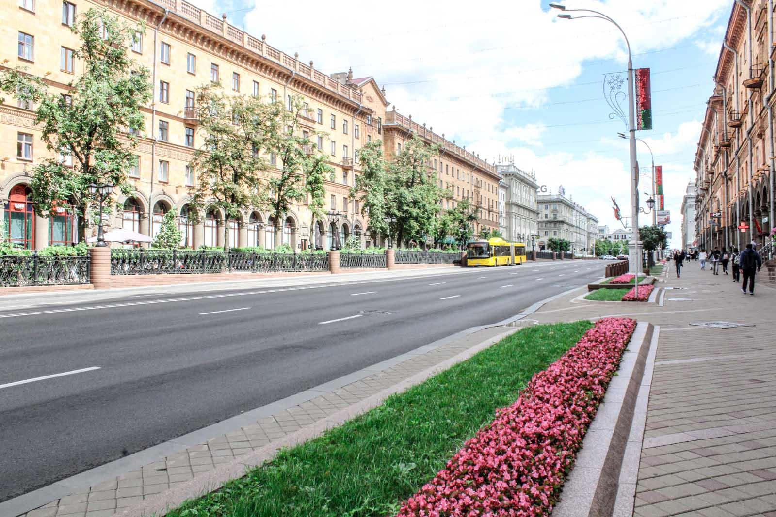 walking in Minsk