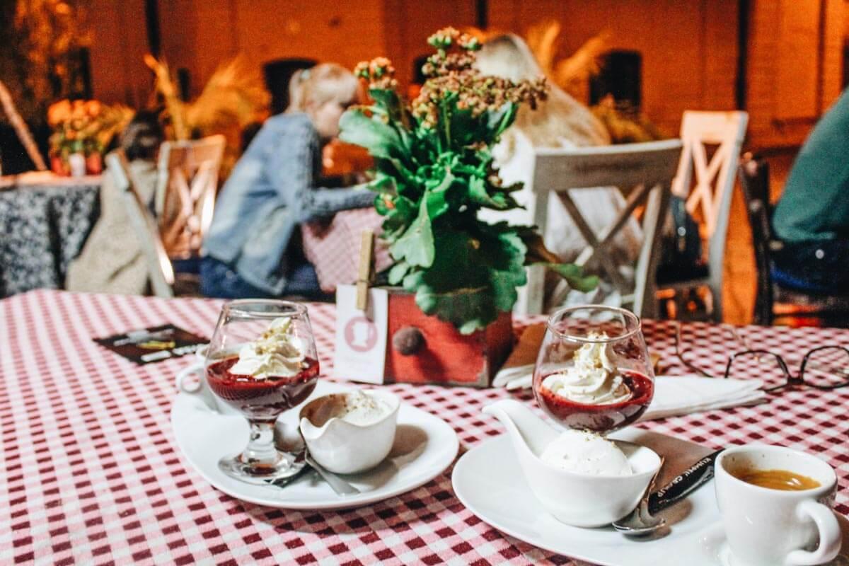 cafe scene in Lviv