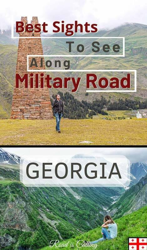 My guide on travel in Kazbegi, Georgia answers all questions about what to see along Georgia Military Road, when to go, what to do in Stepantsminda & more #caucasustravel #georgia #tbilisitrips