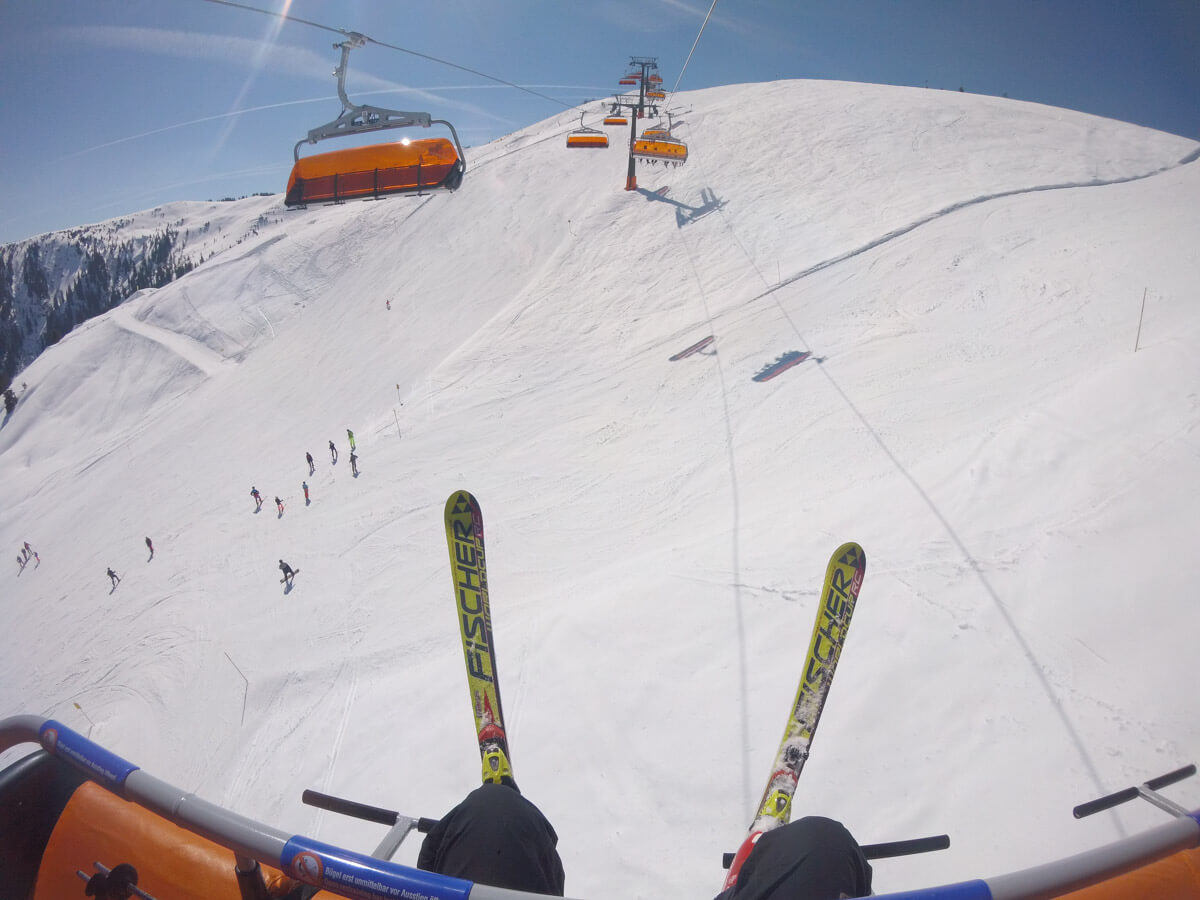 skiing in Europe