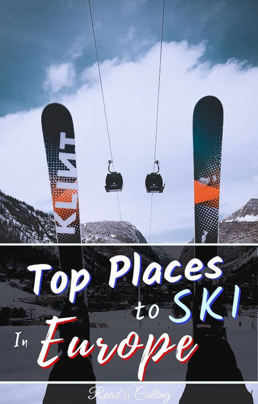 My extensive guide to skiing in Europe. It will also suit budget travelers because there are quite a few awesome ski resorts on this list in cheap European countries. Learn where you can ski in Europe while not breaking your bank. #skiingineurope #bestskiresorts #skiingonabudget #skiholidays
