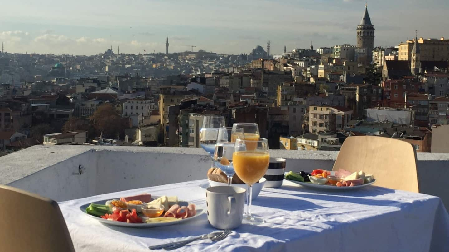 Galata airbnb with a view