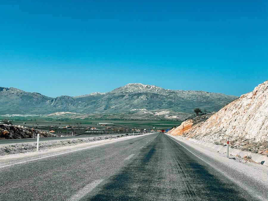Pamukkale to Antalya drive