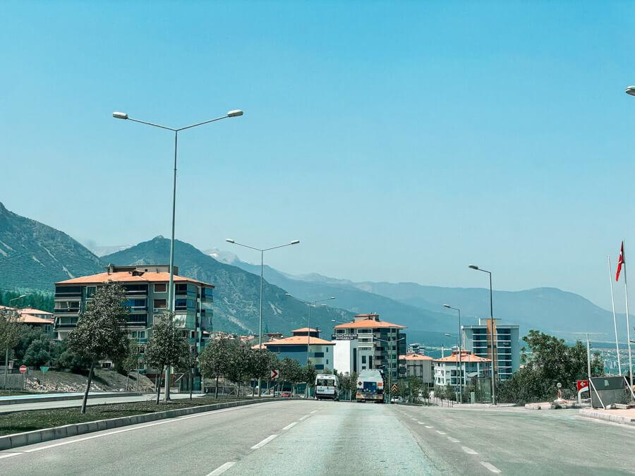 Antalya to Pamukkale road