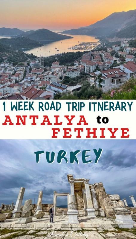 Road trip from Antalya to Fethiye along the coast
