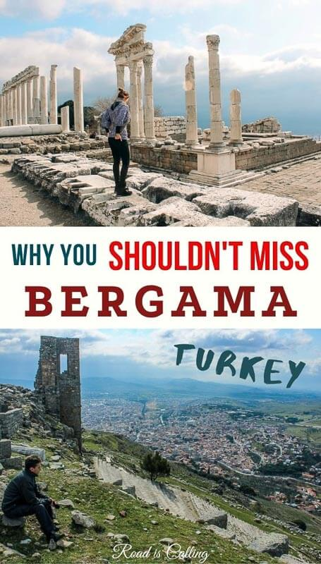 Visiting Pergamon in Bergama in Turkey