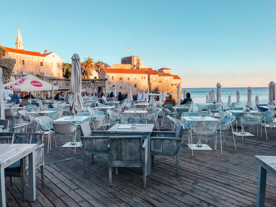 seaside cafe Montenegro