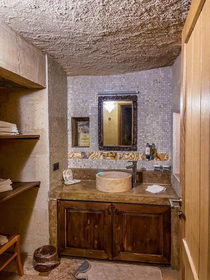 cave hotel bathroom