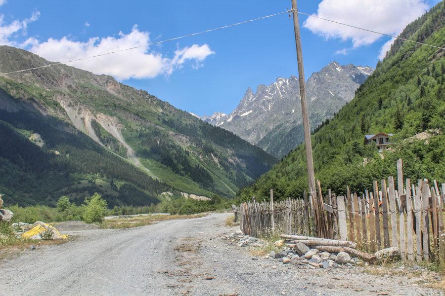 Mestia to Chalaadi glacier road