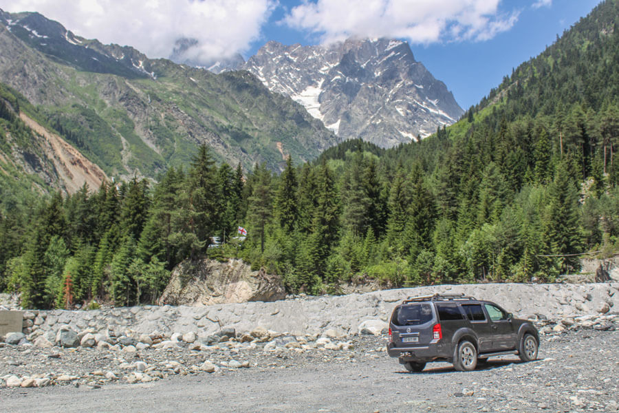Mestia to Chalaadi road