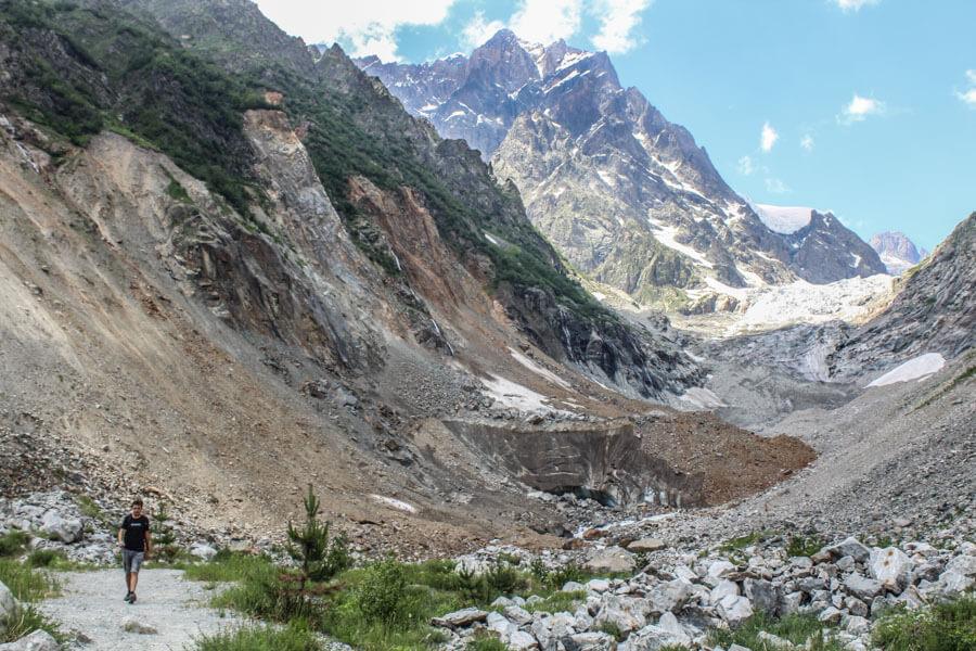 Chalaadi glacier in a distance