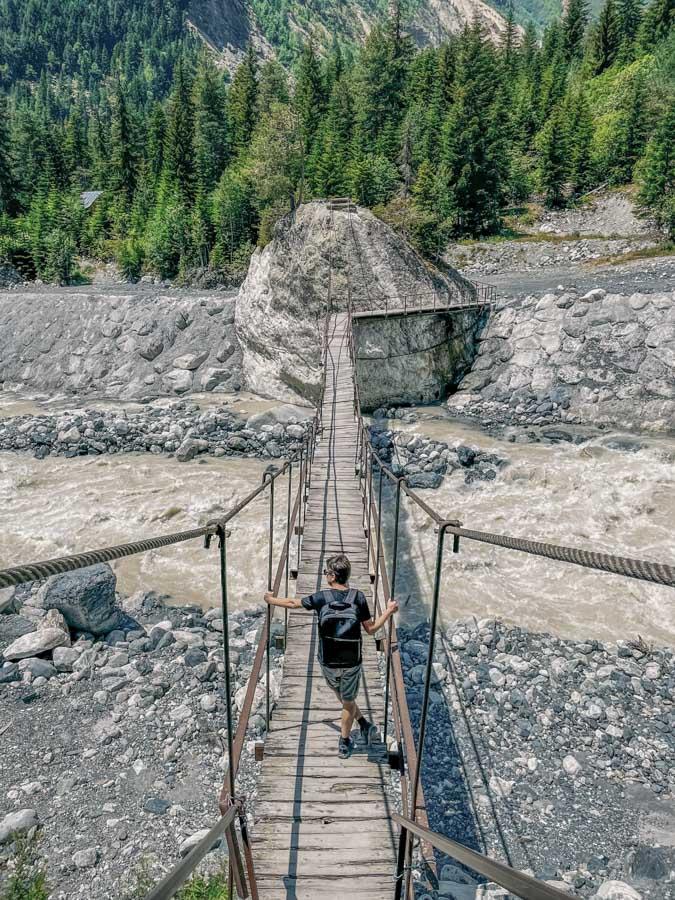 suspension bridge Svaneti