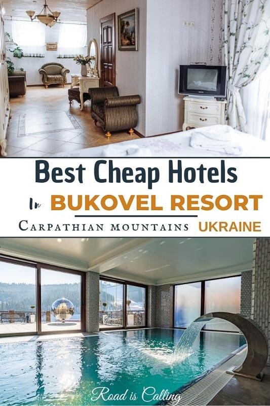 Cheap hotels in Bukovel resort, Carpathian Mountains, Ukraine.