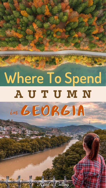 Autumn in Georgia country