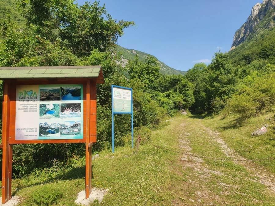 hiking trails in Montenegro