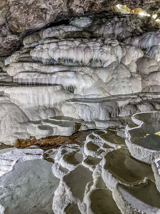 visiting Kaklik cave