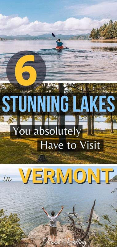Get inspired to visit these awe-inspiring Vermont lakes where you can go kayaking, canoeing, boating, and swimming!! | USA Bucket List | Best of America | Best of USA |