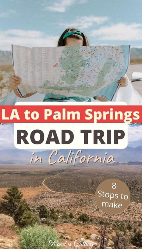 If you decide to visit Palm Springs from Los Angeles, do not miss an opportunity to turn it into a road trip and make these amazing stops! LA to Palm springs drive can be fun! #californiaroadtrip #california #bestroadtripusa