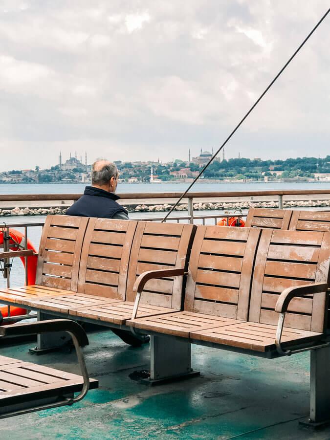 ferry across Bosphorus