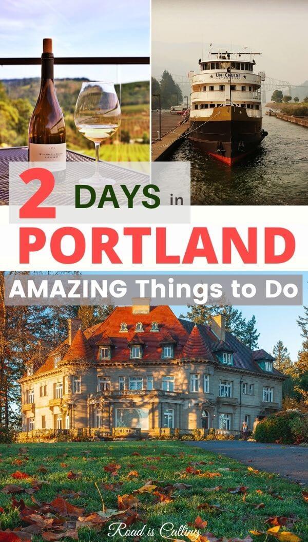 Portland itinerary for 2 and 4 days #portland #oregon #westcoastusa