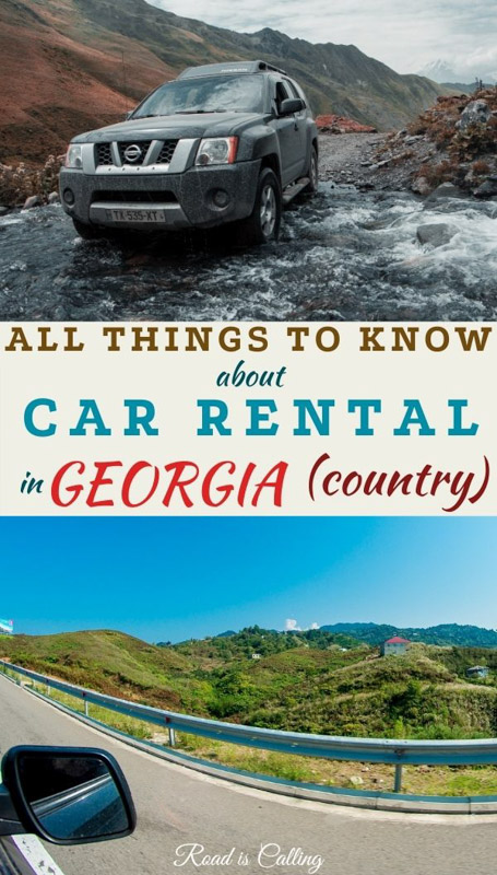 Renting a car and driving in Georgia country