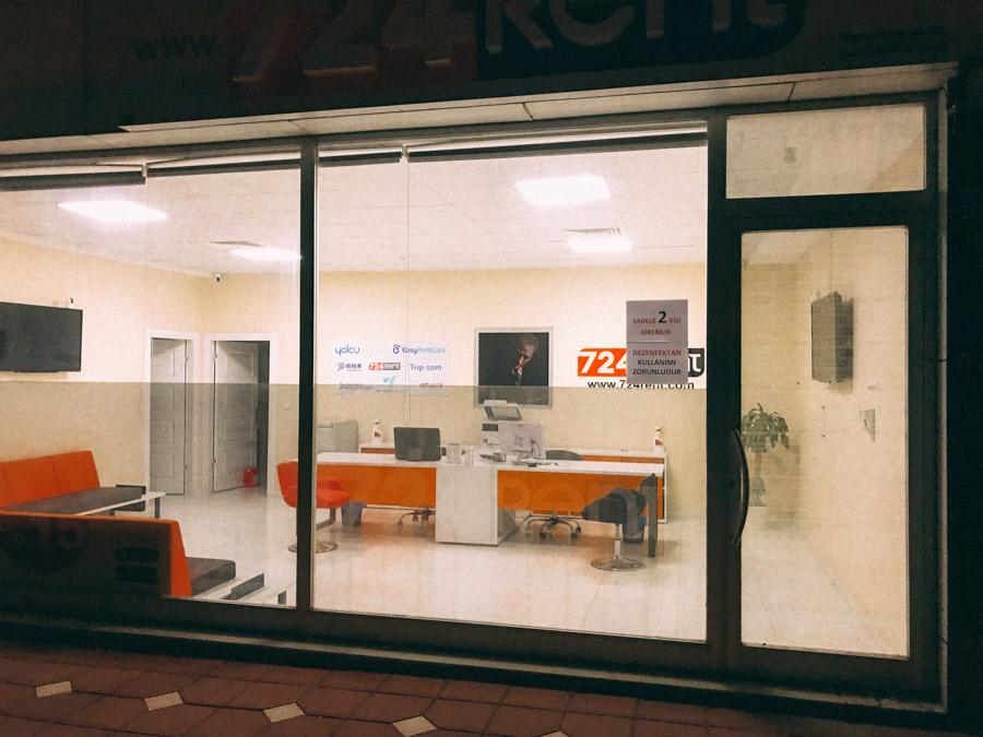 car rental office in Istanbul