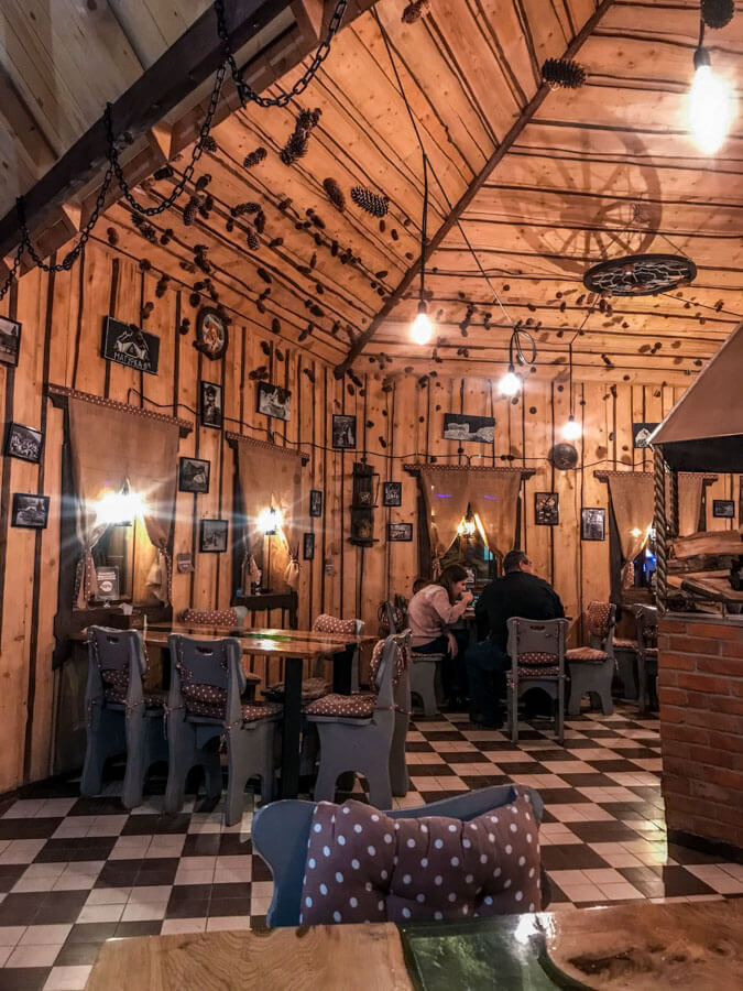 restaurant in the Carpathian Mountains