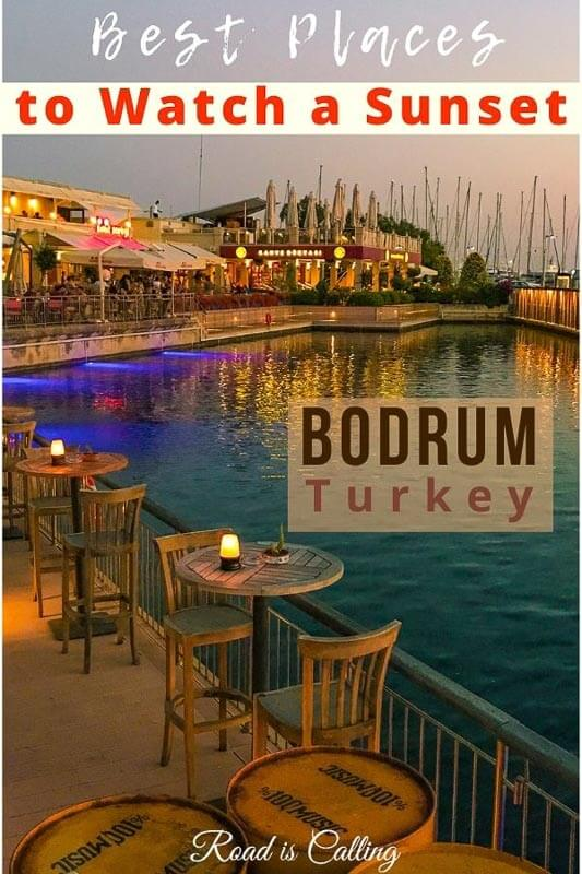 Best spots to watch a sunset in Bodrum, Turkey #bodrumturkey #turkeytravel