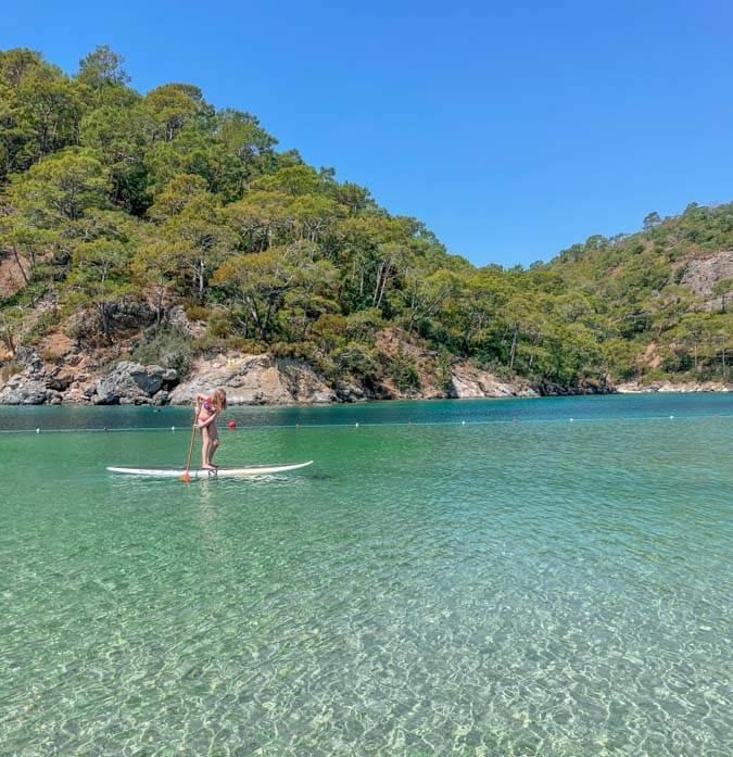 paddle boarding in Kotor