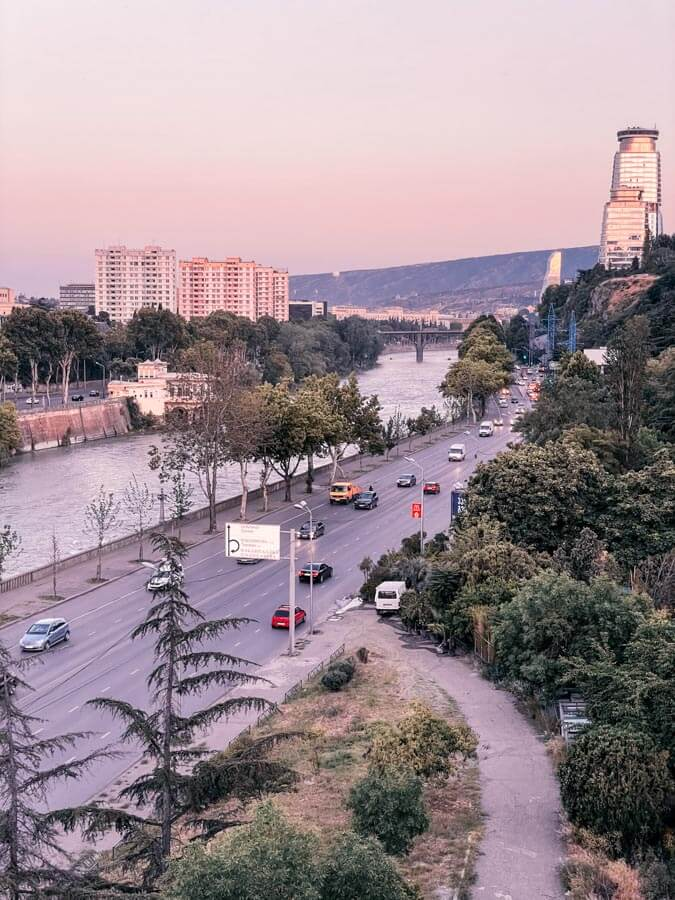 walking around Tbilisi
