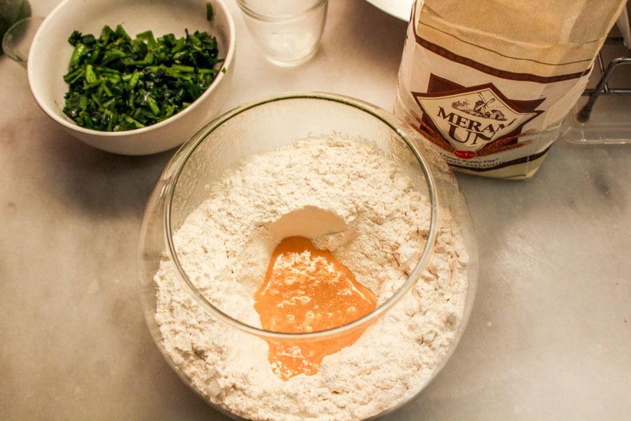 spinach pierogi dough