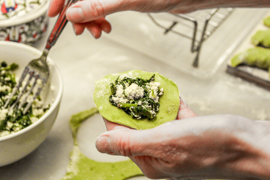 spinach and feta pierogi