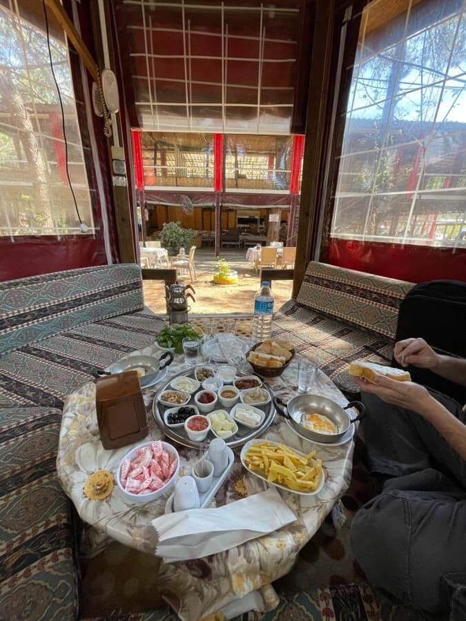 village breakfast in Antalya