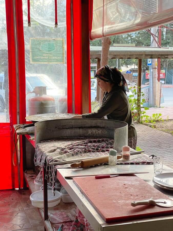 Turkish woman cooking