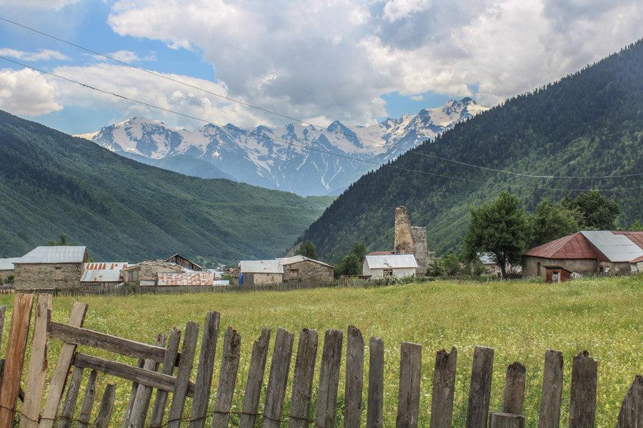 Mazeri village in Svaneti